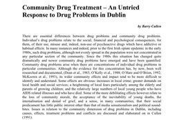 Community drug treatment